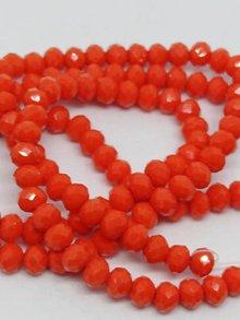 Korálky - Rondelkové korálky - 4 mm (Červenooranžová) - 10740287_