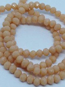 Korálky - Rondelkové korálky - 4 mm (Broskyňová) - 10740289_