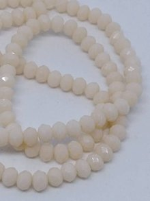 Korálky - Rondelkové korálky - 4 mm (Svetlá broskyňová) - 10740290_
