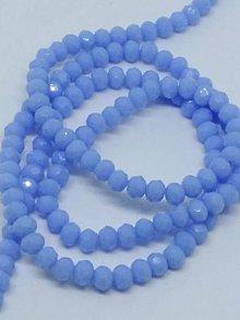 Korálky - Rondelkové korálky - 4 mm (Svetlomodrá) - 10740291_