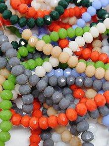 Korálky - Rondelkové korálky - 4 mm - 10740355_
