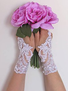 Rukavice - Svadobné rukavičky II - 10741106_