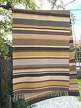 Úžitkový textil - hnedo žltý koberec - 10743081_