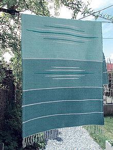 Úžitkový textil - koberec odtiene mentolovej - 10743063_