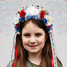 Ozdoby do vlasov - Detská parta, čelenka vo folklórnom štýle - 10744109_