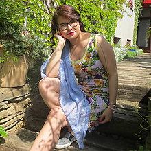 Šaty - Letné, jemné so šatkou ... - 10744038_