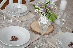 Darčeky pre svadobčanov - Hnedé magnetky - 10744002_