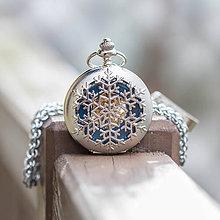 Iné - Mechanické vreckové hodinky s kroužkovanou reťazou (50) - 10744213_