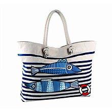 Veľké tašky - Modrobílá taška Sailor bag - 10742130_