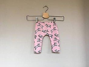 Detské oblečenie - Legíny Koník ružový - 10742516_