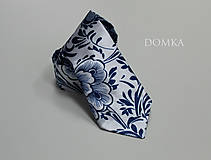 Doplnky - Pánska modrobiela kravata - 10743858_
