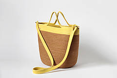 Kabelky - Kabelka žlutohnědá - 10744231_