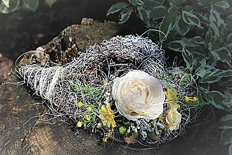 Dekorácie - Srdiečko na hrob - 10742937_