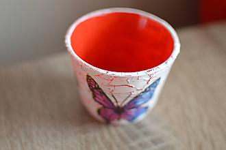 Svietidlá a sviečky - Svietnik s motýľmi - 10743669_