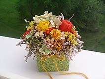 Kvetinová krabička zo sušených kvietkov ... prírodná dekorácia