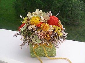 Dekorácie - Kvetinová krabička zo sušených kvietkov ... prírodná dekorácia - 10742587_
