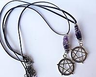 Náhrdelníky - Náhrdelník Ametyst Pentagram - 10743489_