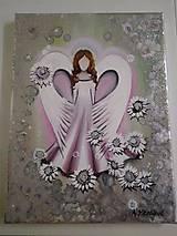 Obrazy - Anjelik na prvé sväté prijímanie - 10743864_