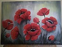 Obrazy - Olejomaľba na plátne - kvety - 10744130_