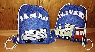 Detské tašky - Sťahovací vak s menom - chlapčenský - 10744473_