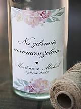 Papiernictvo - Etiketa na svadobnú výslužku