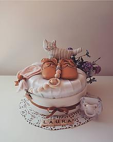 Detské doplnky - MINIMALIST plienková torta pre dievčatko - 10743129_