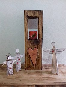 Svietidlá a sviečky - Drevený svietnik - 10742823_