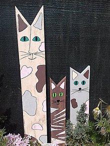 Dekorácie - Drevená dekorácia mačka - 10743429_
