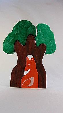 Dekorácie - Drevená skladačka – Líška - 10742413_