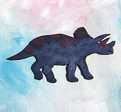 Magnetky - Drevené magnety - Triceratops - 10743144_