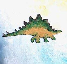 Magnetky - Drevene magnety - Stegosaurus - 10743177_