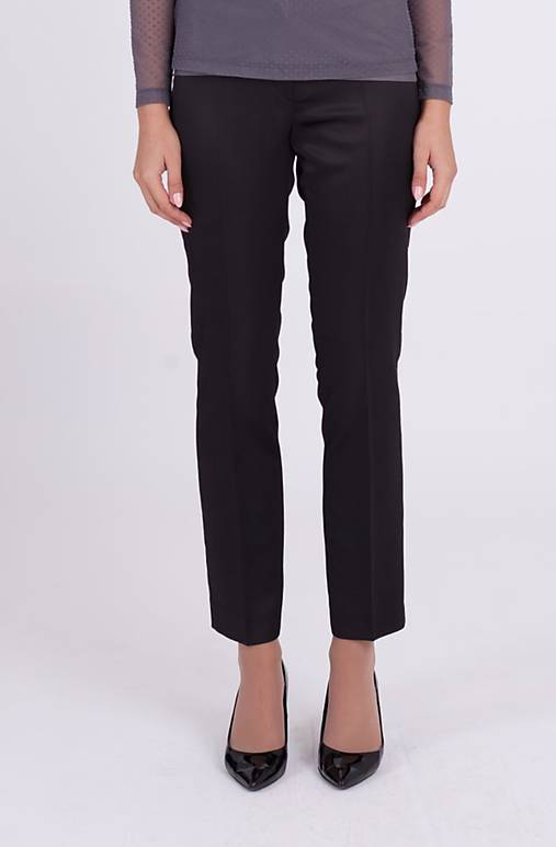 Saténové nohavice na puky čierne