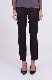 Nohavice - Saténové nohavice na puky čierne - 10743550_