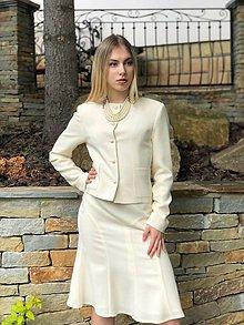 Kabáty - Vlnené sako alla Chanel - 10744072_