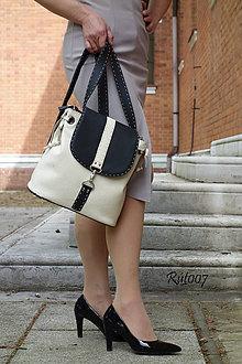 Kabelky - Kožený baťůžek Dual bags_bicolor - 10743316_