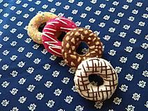 Hračky - Šité mini donuty (Ružová) - 10742387_