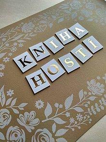 Papiernictvo - KNIHA HOSTÍ - klasická - 10742399_