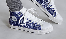 Obuv - Folky blue tenisky - 10743268_