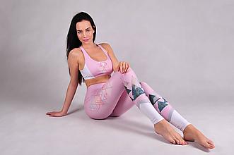 Nohavice - Pink old days - športový set legíny a top - 10742858_