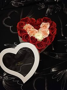 Dekorácie - Roses heart - 10744279_
