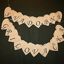 Tabuľky - Girlanda Svadobná grilovačka - 10745775_