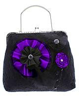 Kabelky - gothic dámská, kabelka spoločenská čipková kabelka čierná G1 (Šedá) - 10748467_