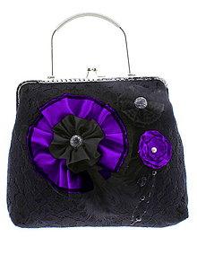 Kabelky - gothic dámská, kabelka spoločenská čipková kabelka čierná G1 - 10748467_