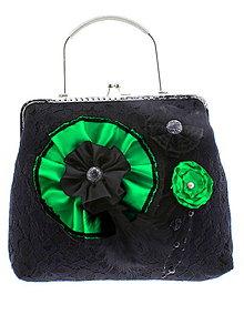 Kabelky - gothic dámská, kabelka spoločenská čipková kabelka čierná G2 - 10748476_
