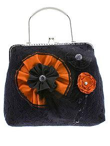 Kabelky - gothic dámská, kabelka spoločenská čipková kabelka čierná G6 - 10748548_