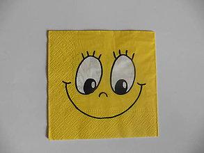 Papier - servítka veselý úsmev - 10747574_