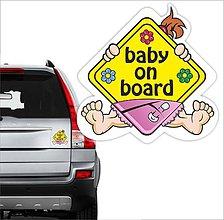 Detské doplnky - nálepka na auto Dieťa v aute - 10748451_