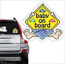 Drobnosti - nálepka na auto Dieťa v aute - 10748673_