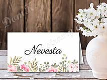 Papiernictvo - Menovka Romantik - 10747421_