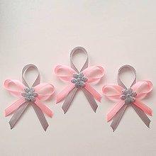 Pierka - Ružovo strieborné svadobné pierka - 10747086_